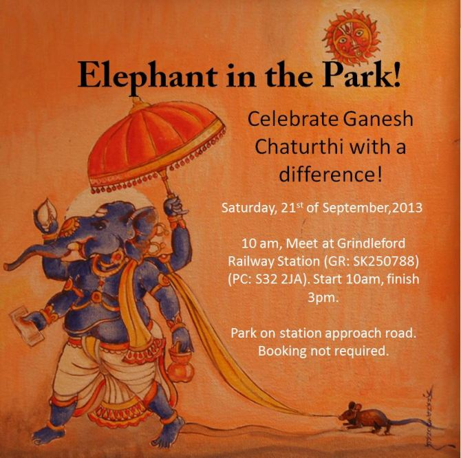Ganesha walk 2013 flyer