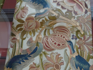 A design made from Indian Tussur silk by Sir Thomas Wardle's wife Elizabeth Wardle