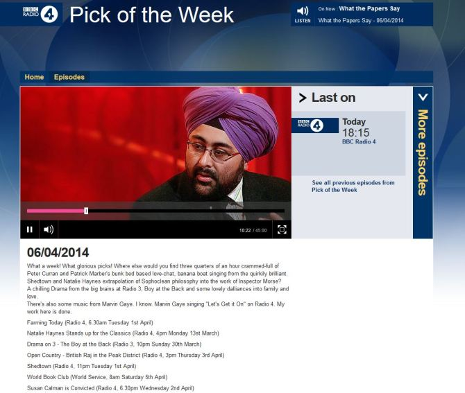 pick of the week snip 6 April 2014